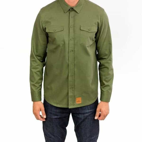 Recon Military Green – Long Sleeve Riding Shirt